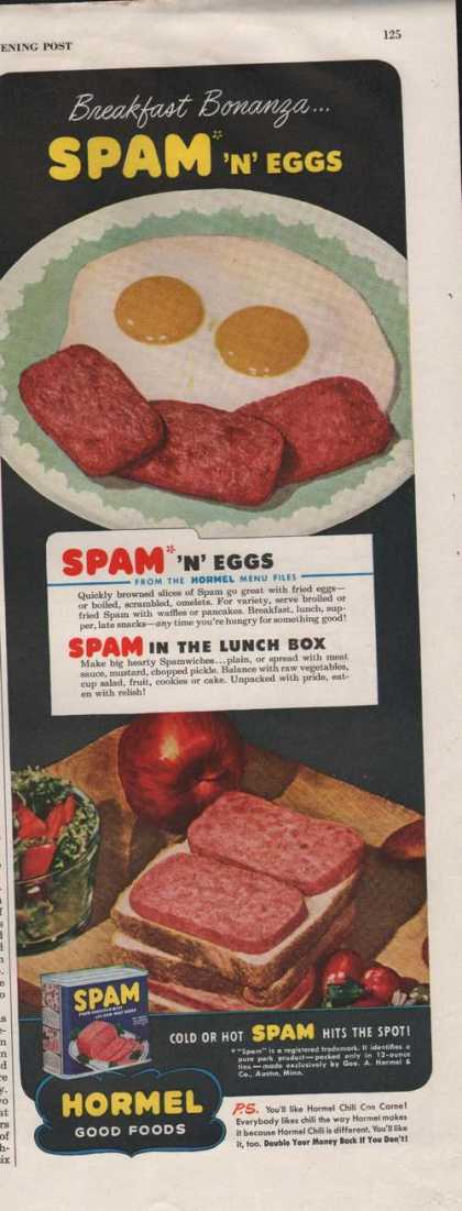 Spam Hormel Meat In a Can (1946)