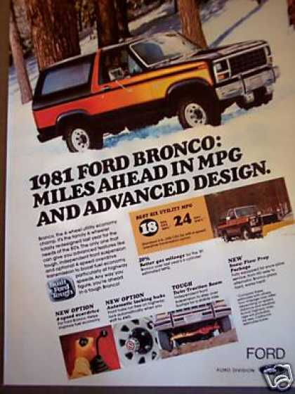 Ford Bronco Truck Car Suv Photo (1981)