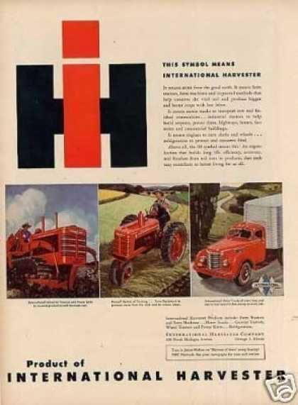 International Harvester Ad Tractors, Truck (1946)