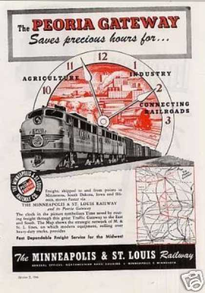 Minneapolis & St. Louis Railway Ad Emd Ft's (1946)