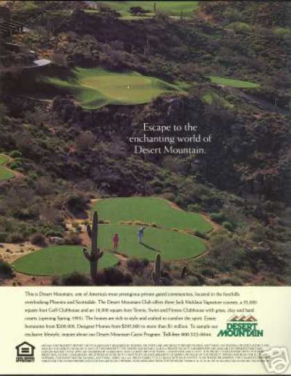 Desert Mountain Club Homes Golf Course Arizona (1993)