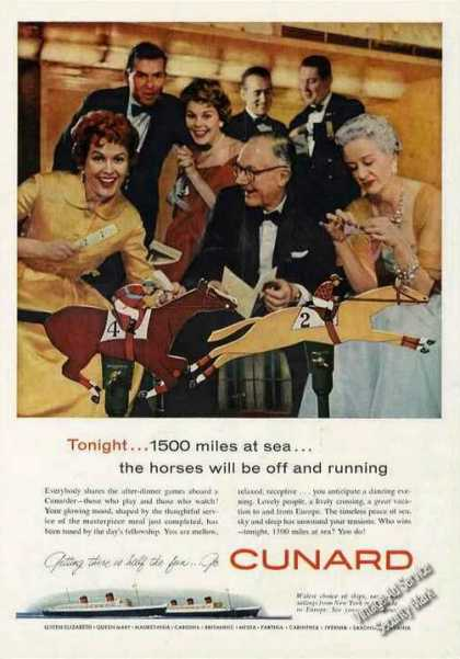 "Cunard ""500 Miles at Sea...horses Running"" (1958)"