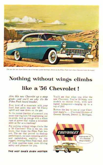 Chevrolet Car – BelAir Sport Sedan Blue & White – Sold (1956)