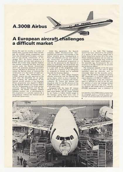 Airbus A300B Aircraft 8-Page Photo Article (1972)