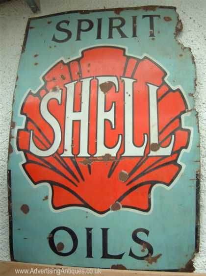 Shell Spirit & Oils Sign
