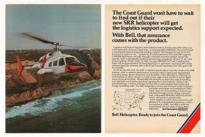 Coast Guard Bell SRR 222C Helicopter Photo (1979)