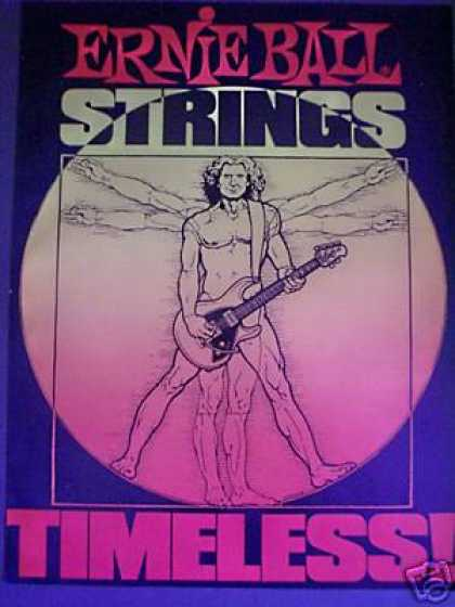 Ernie Ball Guitar Strings Timeless Art (1987)