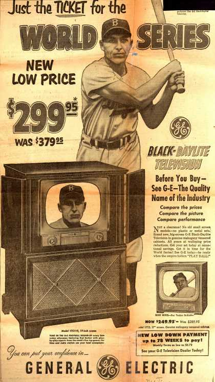 General Electric Company's Television – Just the Ticket for the WORLD SERIES (1951)