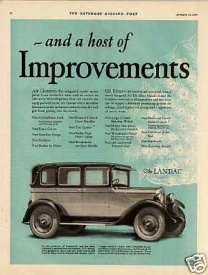 Chevrolet Landau Car Color Ad 2 Page (1927)