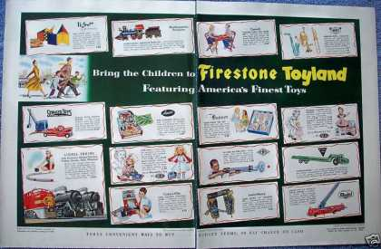 Firestone Toyland Toys Lionel Train Doll Trucks (1953)