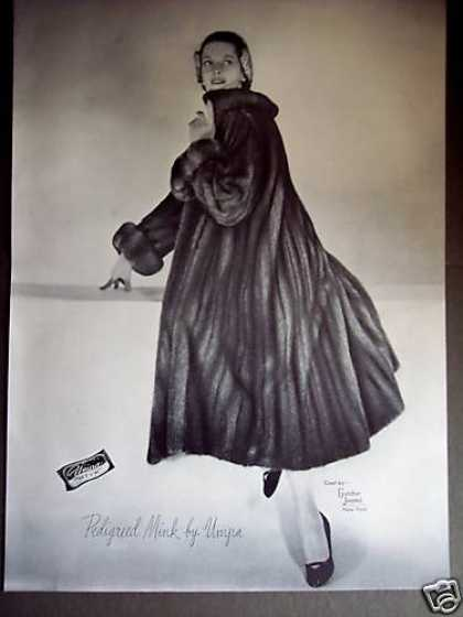 Woman In Umpa Mink Coat By Gunther Jaeckel (1950)