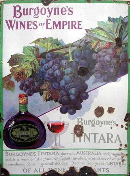 JM Burgoyne's Wines Enamel Sign