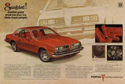 Pontiac Sunbird Car – Great small car from the Wide Track people (1976)