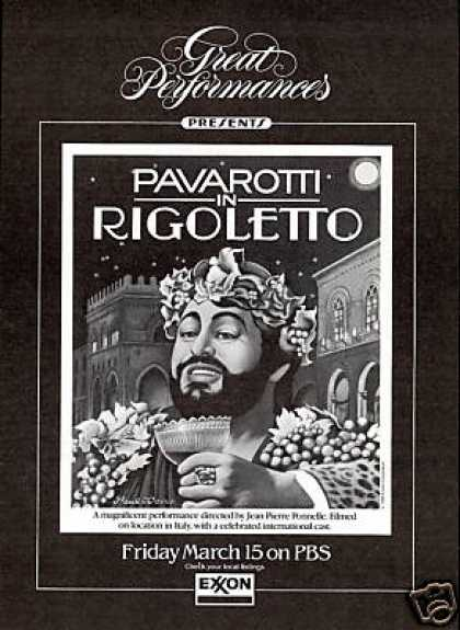 Pavarotti in Rigoletto Paul Davis Art PBS Film (1985)