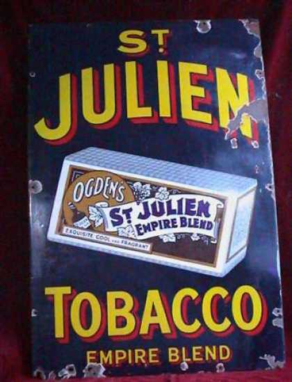 Ogden's St Julien Empire Blend Tobacco Sign