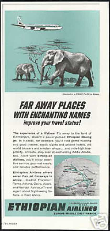 Ethiopian Airlines Elephant Kenya Game Park (1964)