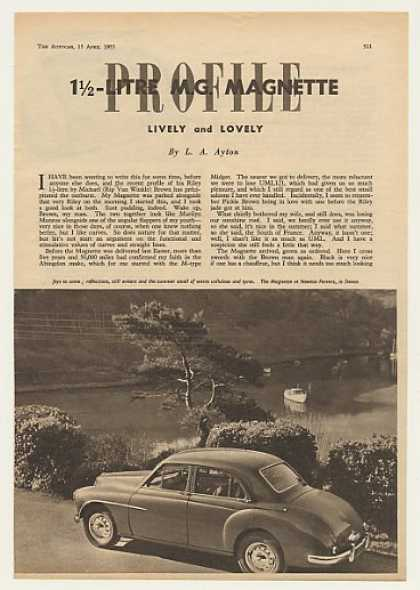 MG Magnette Profile 4-Page British Photo Article (1955)