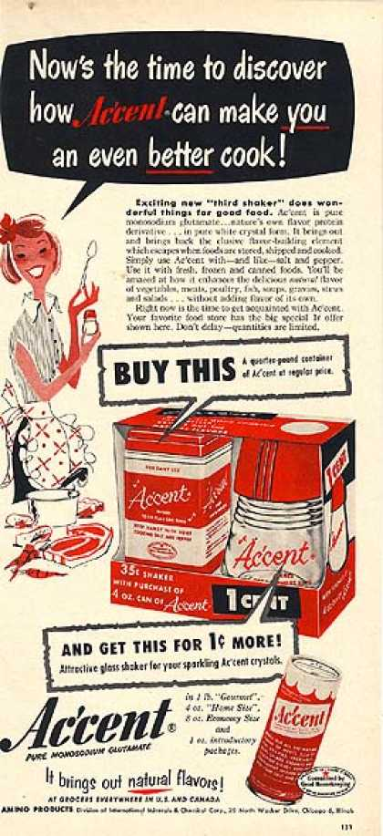 Accent's Flavor-Enhancer (1954)
