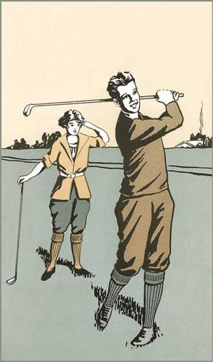 Golfing in Plus Fours