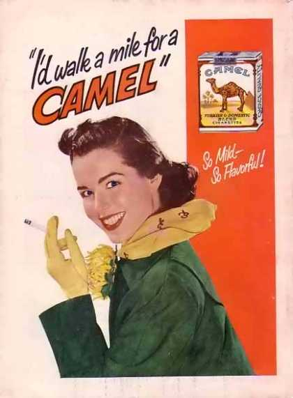 Camels Cigarettes – I'd walk a mile for a Camel (1949)