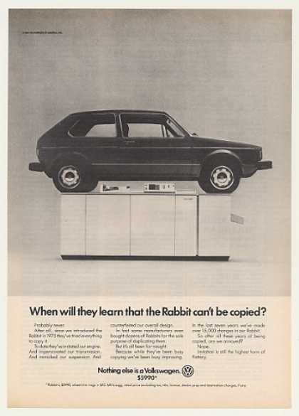 VW Volkswagen Rabbit on Copier Can't Be Copied (1982)