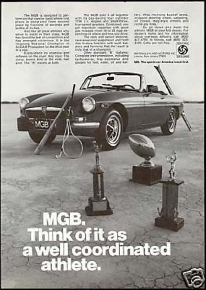MG MGB Sports Car Vintage Print Car (1974)