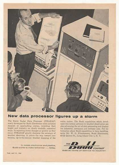 '63 Budd STRADAP Storm Radar Data Processor Computer (1963)