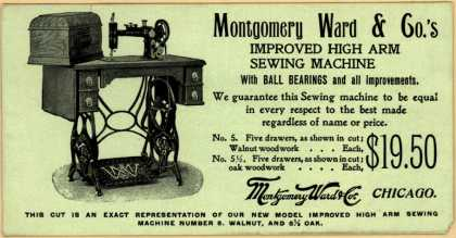 Montgomery Ward & Co.'s Improved High Arm Sewing Machine – Improved High Arm Sewing Machine