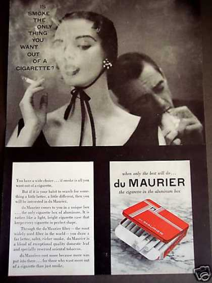 Du Maurier Cigarettes In Aluminum Box Photo (1953)