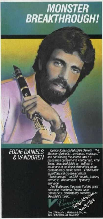 Eddie Daniels Photo Clarinet Vandoren (1989)