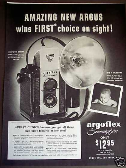 Argus Argoflex Seventy Five Camera (1949)