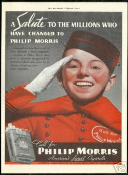 Philip Morris Cigarette Johnny on the Spot (1938)