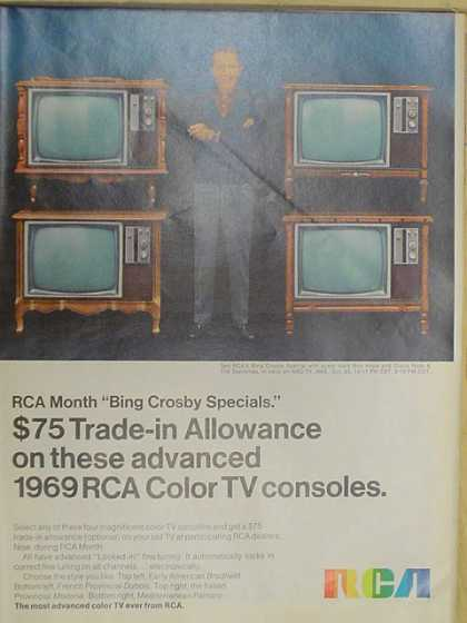 RCA Color TV consoles. Bing Crosby (1968)