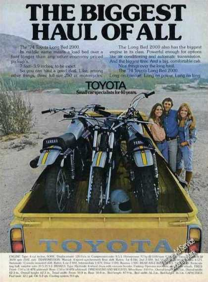 Toyota Long Bed 2000 Pickup Truck Yamaha Cycles (1974)