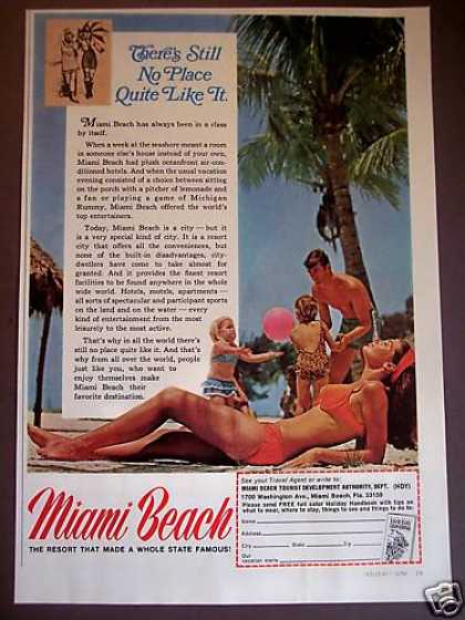 Miami Beach Vacation Travel Photo (1969)