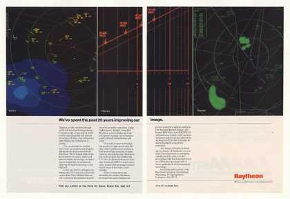 Raytheon Raster Plasma Cursive Radar Display 2P (1987)