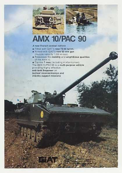 Giat AMX 10/PAC 90 Amphibious Combat Vehicle (1980)