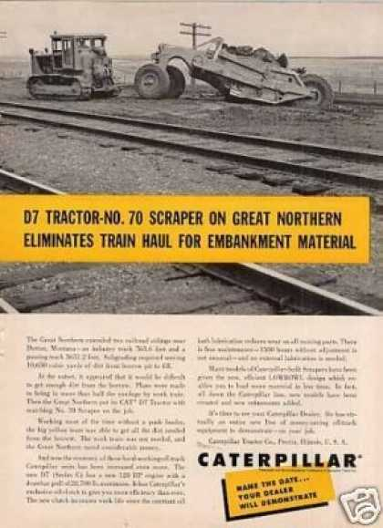 Caterpillar D7 Tractor & No. 70 Scraper (1956)
