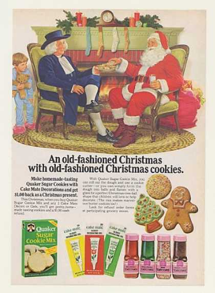 Quaker Sugar Cookie Mix Santa Christmas (1977)