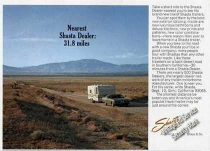 Shasta Travel Trailers Nearest Dealer Photo (1972)