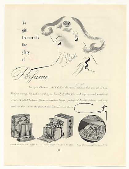 Coty Emeraude Le Vertige Treasure Chest Perfume (1937)