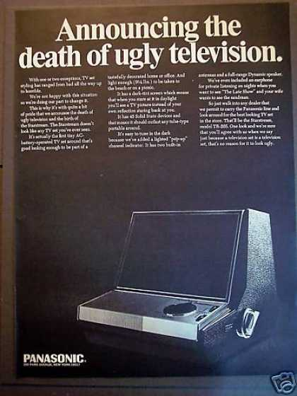 Panasonic Tv Set 'death of Ugly Television' (1967)