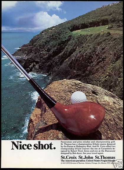 Nice Golf Shot U.S Virgin Islands Travel (1988)