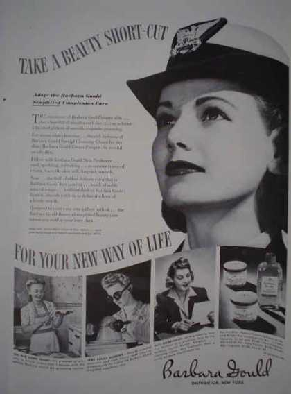 Barbara Gould Makeup AND Wimbledon hats more, Popover Lord and Taylor and Slimtite Western underwear (1943)