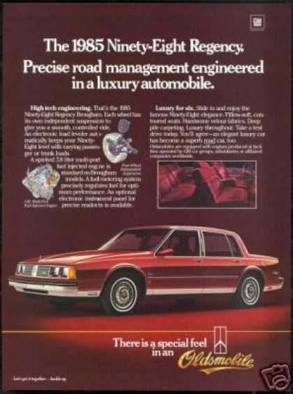 Oldsmobile 98 Ninety Eight Regency Car (1985)