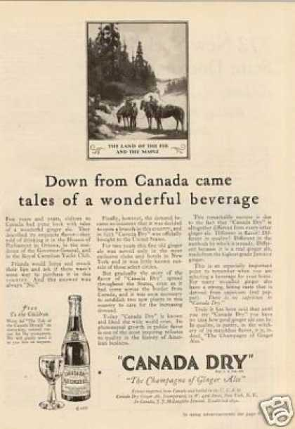Canada Dry Ginger Ale (1927)
