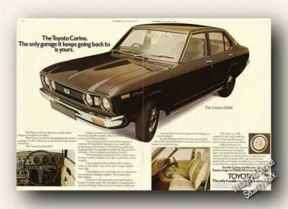 Toyota Carina 1600 Photo Uk Print Ad Cars (1975)