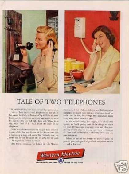 "Western Electric Ad ""Tale of Two Telephones... (1956)"