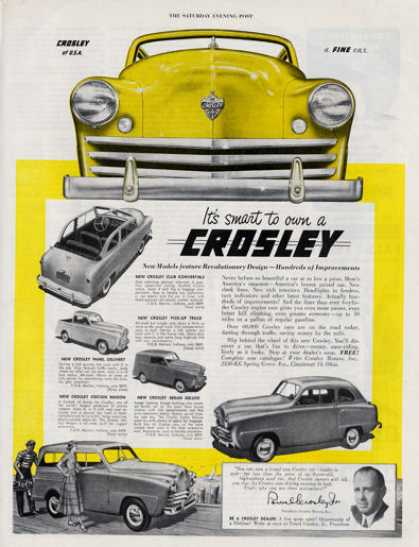 Crosley Panel Station Wagon Sedan Convertible (1949)