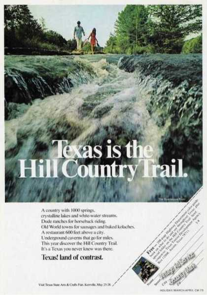 Guadalupe River Texas Hill Country Trail (1973)